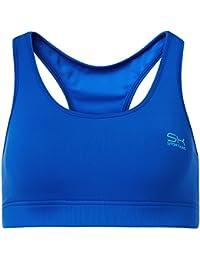 Sportkind Soutien-gorge de sport / tennis / fitness avec maintien moyen pour fille et femme en bleu cobalt tailles 11 ans à XL