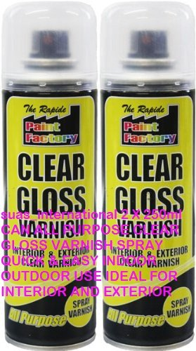 suas-international-2-x-250ml-can-all-purpose-clear-gloss-varnish-spray-quick-easy-indoor-outdoor-use