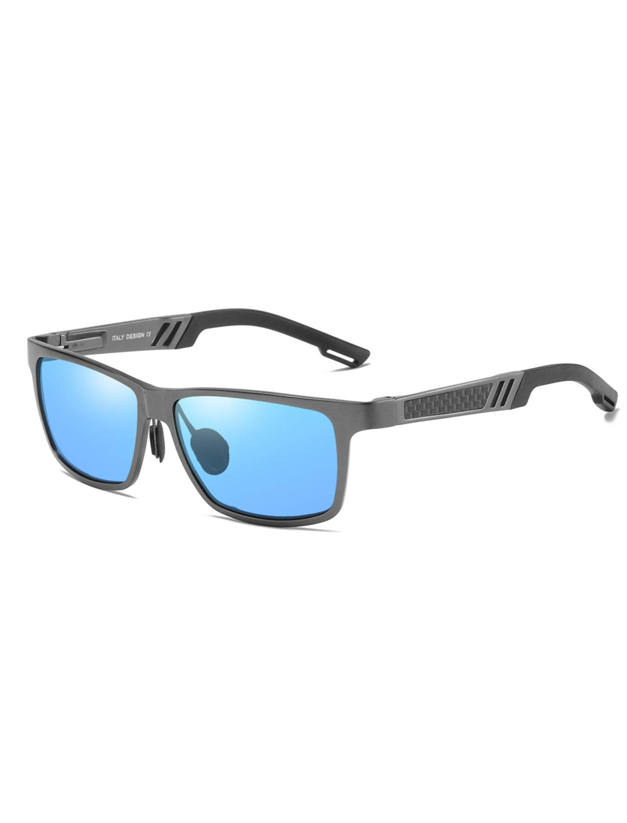 AMEXI Gafas de Sol en Madera, Gafas sol Hombre Mujere polarizadas, UV400 Protection