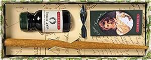 Georges Lalo Set de calligraphie Napoléon de Porte-plume + Plume d'écriture + Flacon d'encre + Dépliant Bleu Marine