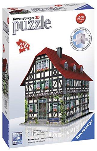 Ravensburger - 12572 - Puzzle 3D Building - 216 Pièces - Maison À Colombages