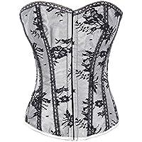 Lace overlay CORSET Burlesque Clubwear
