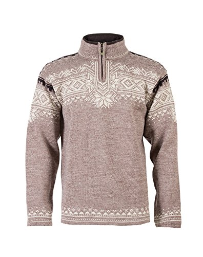 Dale of Norway Herren Pullover Anniversary, Mountainstone/Sand/Lava Mel, L, 34931-P (Dale Norway Pullover Of)