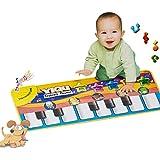 ColorMixs®Bebé estera de piano de los juguetes toque musical canto teclado estera de alfombra animal divertido manta de piano para el regalo del bebé