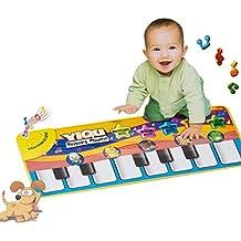 ColorMixs®Bambino giocattoli Piano Mat musicale tocco della tastiera canto Carpet Mat Funny Animal Piano coperta per Baby GiftBambino giocattoli Piano Mat musicale tocco della tastiera canto Carpet Mat Funny Animal Piano coperta per Baby Gift