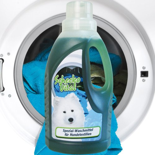 Spezial Waschmittel für Hundetextilien und Hundedecken gegen Urin Flecken aller Art wie Blut, Urin, Erbrochenes etc. und absorbieren intensive Tiergerüche 500 ml Hund