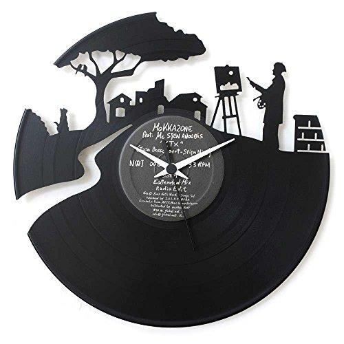 El regalo perfecto para todos los artistas: pintores y escultores, reloj de vinilo negro, Vinyluse original