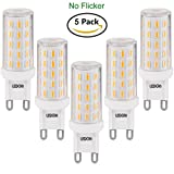LEDGLE 6W G9 LED Lampen Warmweiß 2800K Kein Flimmern, Nicht Dimmbar, 420LM ersetzt 60W Halogenlampen, 5er Pack
