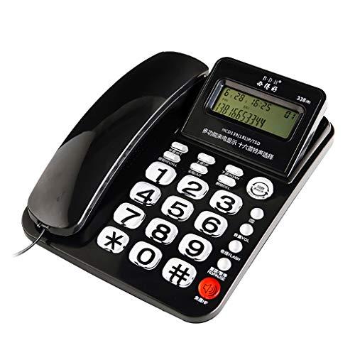 Wadse Telefon, Batterie frei, schwarz, weiß, 21.7CM * 16CM -by Virtper (Farbe : SCHWARZ)