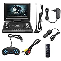 "7.8""Portable DVD Player, Car DVD Player, 270 ° Rotatable HD Display,Rechargeable Battery Supports USB And SD Card, HD DVD Player"
