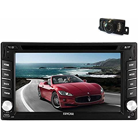 EinCar Doppio Din Android 5.1 Lollipop Quad Core Car Stereo Radio Receiver In Dash Navigation GPS Unit¨¤ Veicolo 6.2 '' touch screen capacitivo Car DVD CD Supporto Bluetooth USB SD WiFi MirrorLink 1080P lettore video con macchina fotografica di sostegno