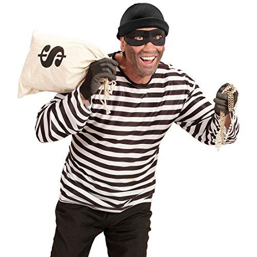 Bankräuber Kostüm - NET TOYS Panzerknacker Kostüm Set Bankräuber Outfit XL (54) Kostüm Dieb Einbrecher Kostümset