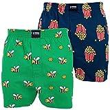 Happy Shorts 2 Webboxer Herren Boxer Motiv Boxershorts Farbwahl, Grösse:M - 5-50, Präzise Farbe:Design 8