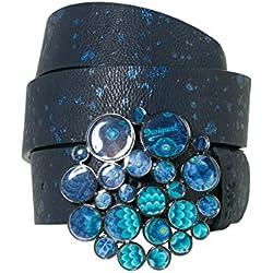 Desigual Cint_aro Metal Splatter, Cinturón para Mujer, Azul (Navy 5000), 85