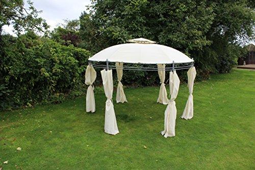 Kingfisher creme 3,5m rund Pavillon im Garten Möbel Shelter Party Zelt
