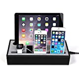 Base de carga para iPhone 6 o 5 SE, iPad Pro Mini, iWatch, polipiel Apple Watch y iPhone, Soporte de carga