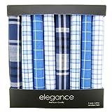 Retreez 8 Stück Reine Baumwolle Gemischte Taschentücher für Herren Geschenkset - Gemischte Set 004