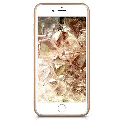kwmobile Étui en TPU silicone élégant pour Apple iPhone 7 / 8 en or rose métallique .doré métallique