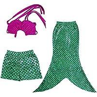 Little-Peach L-Peach 3pcs Bañador de Niñas Costume Traje de Baño de Princesa Swimwear Bikini 2-10 años