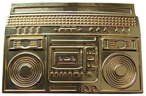 Rebel Gürtelschnalle BOOMBOX GOLD Ghettoblaster Buckle