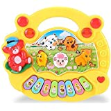 Zest 4 Toyz Musical Animal Farm Piano Toy with Flashing Light & Sound for Kid, Early Development Musical Toy- Assorted…