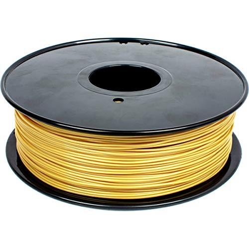GEEETECH Filamento PLA 1.75mm, Impresora 3D Filamento PLA 1kg Carrete (oro brillante)