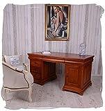 CHEFSCHREIBTISCH Mahagoni Desk Holz SCHNITZEREIEN Schreibtisch Palazzo Exklusiv