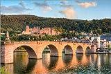 Poster 60 x 40 cm: Heidelberg Alte Brücke und Schloss von