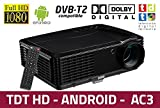 proyector Luximagen HD700 con WiFi, Android, TDT, USB, HDMI, AC3, 2...