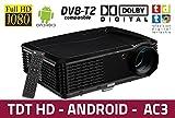 proyector Luximagen HD700 con WiFi, Android, TDT, USB, HDMI, AC3, 2 años de garantía