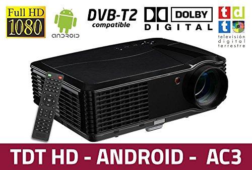 Luximagen HD700 - Proyector barato con WIFI, Android, TDT, USB, HDMI, AC3, 2 años de garantía
