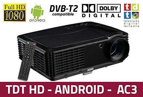 proyector Luximagen HD700 con WiFi, Android, TDT, USB, HDMI, AC3, 2 años...