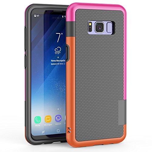 Funda Galaxy S8 Plus, HanLuckyStars TPU Fundas Carcasa para Samsung Galaxy S8 Plus Case Galaxy S8 Plus Funda con [Ultra Fina][Anti-Arañazos][Anti-Choques][Garantía de por vida](Gris Oscuro)