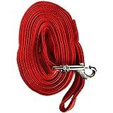Mera Puppytm Dog Leash 10 Feet Long For Regular To Medium Dogs (Red)