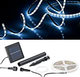 Lunartec Solar LED Strip: Solar-LED-Streifen mit 180 tageslichtweißen LEDs, 3 m, wetterfest IP65 (LED Band Solar)