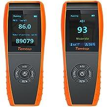 lkc-1000s detector de calidad del aire interior Monitor de temperatura y humedad profesional precisa prueba formaldebyde con pm2,5/PM10/HCHO/aqi/partículas Medidor de calidad del aire con tiempo pantalla para detección de exteriores