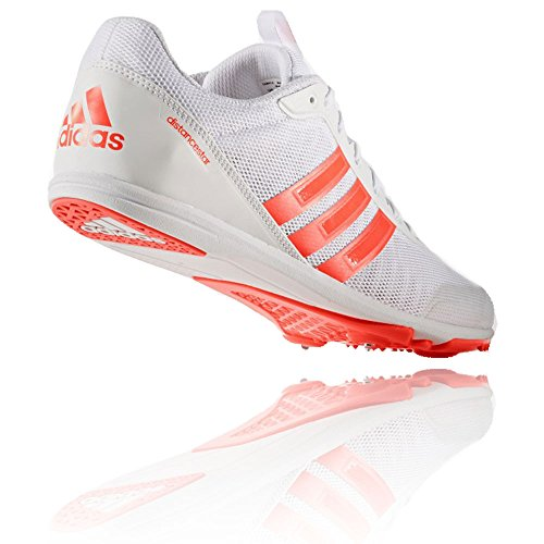 adidas Chaussures de Course Distancestar Blanc Orange