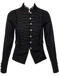 H&R Veste Officier Elégante Queue De Pie Gothique - Steampunk (Noir)