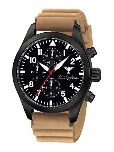 KHS Reloj para Hombre Analógico Cuarzo con Brazalete de Silicona KHS.AIRBSC.DT