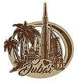 Printtoo Dubai-hölzerner gravierter hölzerner Kühlschrankmagnet Andenken-Geschenk