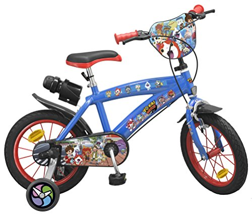 """Toimsa- Marvel Heroes Vélo 14"""" modèle Yo-Kai Watch 4-6 Ans, 1437, Bleu"""