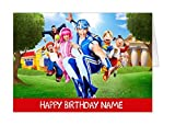Lazytown personalised birthday card