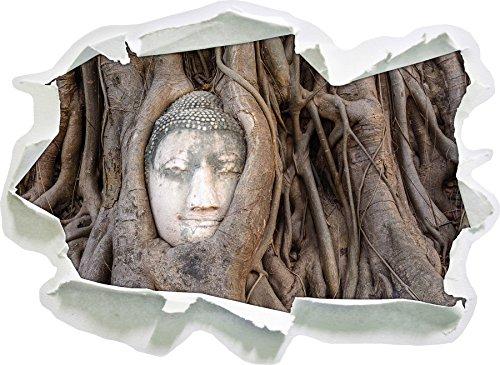 tête de Bouddha Grandir Ensemble dans l'arbre, Papier 3D Sticker Mural Taille: 62x45 cm décoration Murale 3D Stickers muraux Stickers