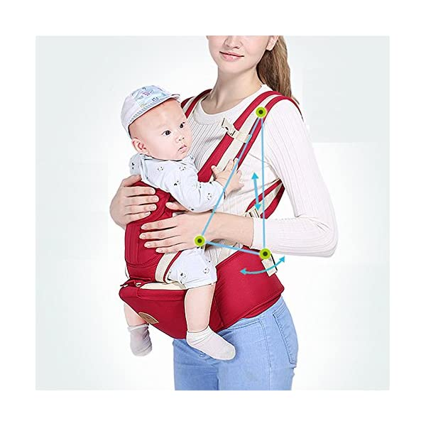 Multifunctional Baby Waist Stool 6 in 1 Baby Carrier Detachable Hip Joint Wide Shoulder Strap Easy and Effort babao 【Perfect for All Seasons】100% organic cotton and breathable mesh material make it soft and comfortable for you and baby skin. Adjustable and demountable temperature-regulation anti-wind hood allows you to keep cooling or warm as you need 【many Carrying Positions and Many Usages】many or out ward facing with or without the hip seat and as a hip seat for infants with the mom or dad detached.Besides, more positions can be allowed as pictures show 【Multifunctional & Adjustable Baby Carrier】Ergonomic positioning of baby seat allows baby's thighs to be supported to the knee joint. The forces on the hip joint are minimal because the legs are spread, supported, and the hip is in a more stable position. Also provides carrying comfortable for adults with wide adjustable lumbar support belt with Velcro and buckle for added safety and strength, and wide adjustable shoulder straps to accommodate both forward and rear positions 6