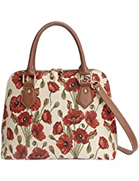 Poppy Convertible Bag by Signare | Ladies Top-Handle Branded Fashion Shoulder Side Bag Tapestry Shoulder Handbag | 36x23x12.5 cm | (CONV-POP)