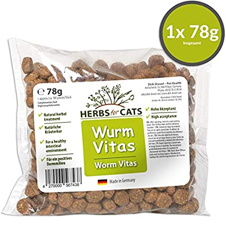 Dirk Drexel Wurm Vitas für Katzen | vor, während und nach einem/Einer behandelten Wurmbefall/Entwurmung | Leckerlis mit…