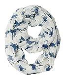 DAMILY Halstücher Damen Muster der Elch Loop Schal Schlauchschal (Weiß)