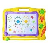 Pootack Lavagna magnetica tavolo da disegno cancellabile Doodle magna per bambini un anno 2 anni 3 anni 4 anni - Giocattoli educativo - Portatile - Formato 40 x 31CM - Giallo