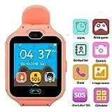 Hangang Montre de Jeu d'enfants avec Écran Tactile Smart Watch Téléphone Anti-perdu SOS Smart Bracelet Smartwatch pour Enfants avec jeux, musique, vidéo, audio, réveil