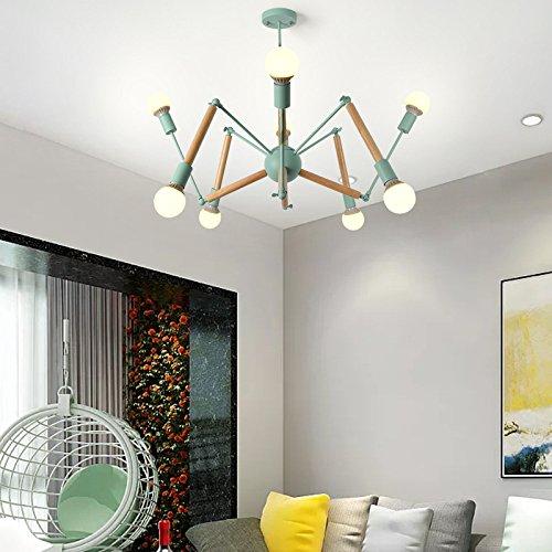 Sala de estar minimalista posmoderna que ilumina 4 + 4 cabezas de madera azul cielo sin fuente de luz